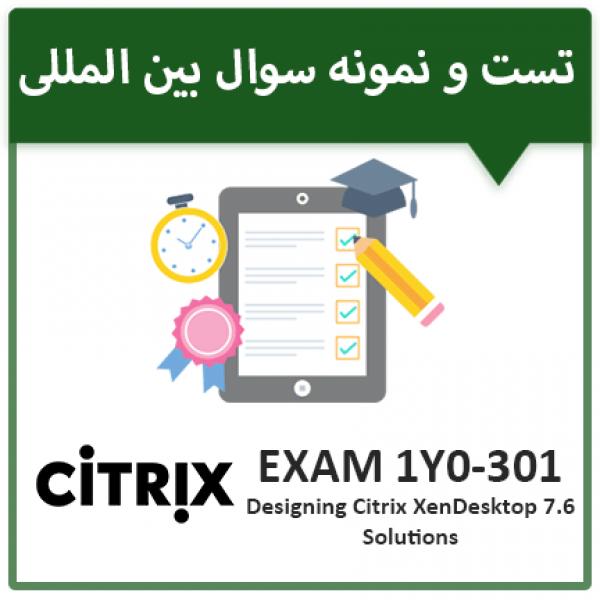دانلود نمونه سوال آزمون CITRIX 1Y0-401