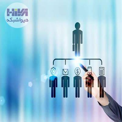 ساختار سازمانی بااستفاده از خط فرمان و بچفایل